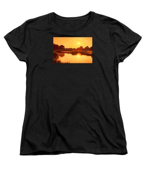 Morning Glory Women's T-Shirt (Standard Cut) by Nadia Sanowar