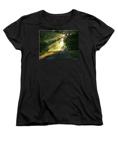 Women's T-Shirt (Standard Cut) featuring the photograph Morning Light by Brian Wallace