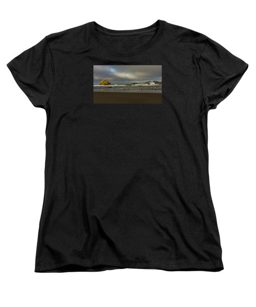 Morning Light On The Beach Women's T-Shirt (Standard Cut) by Ulrich Burkhalter