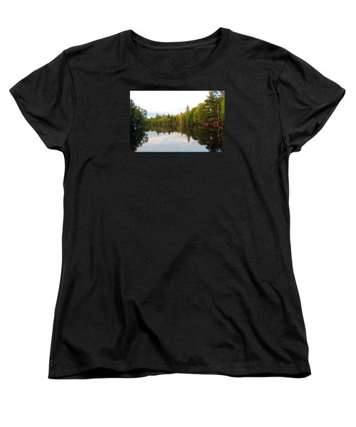 Women's T-Shirt (Standard Cut) featuring the photograph Morning Reflection by Teresa Schomig
