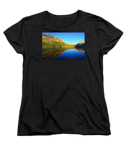 Women's T-Shirt (Standard Cut) featuring the photograph Morning Reflections At Fishercap Lake by Greg Norrell