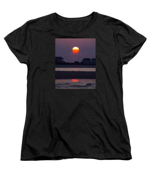 Women's T-Shirt (Standard Cut) featuring the photograph Morning Sun by Alan Raasch