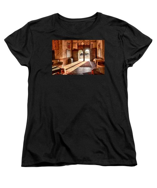 Women's T-Shirt (Standard Cut) featuring the tapestry - textile Moroccan Kasbah by Kathy Adams Clark