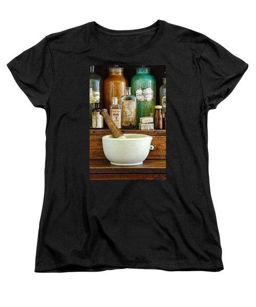 Mortar And Pestle Women's T-Shirt (Standard Cut) by Jill Battaglia
