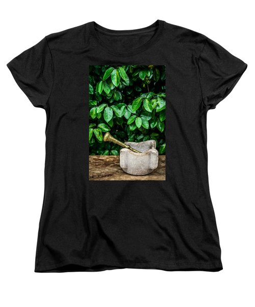 Mortar And Pestle Women's T-Shirt (Standard Cut) by Marco Oliveira