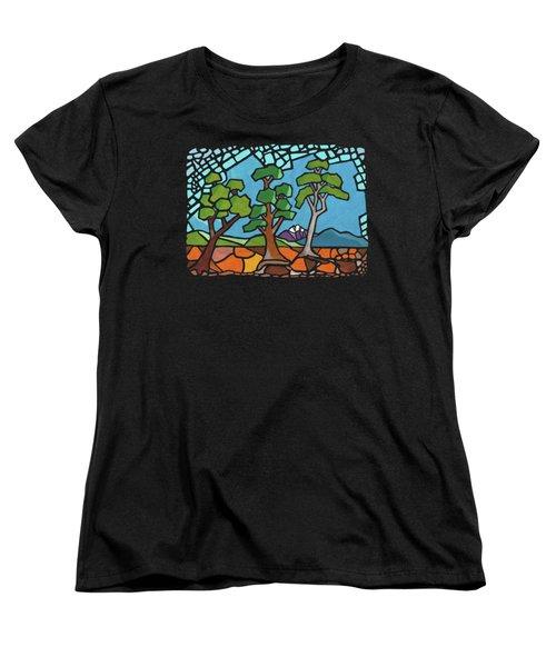Mosaic Trees Women's T-Shirt (Standard Cut) by Anthony Mwangi