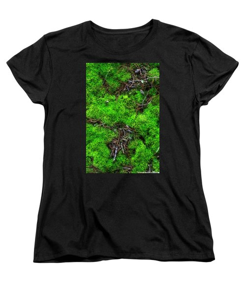 Women's T-Shirt (Standard Cut) featuring the photograph Moss On The Hillside by Mike Eingle