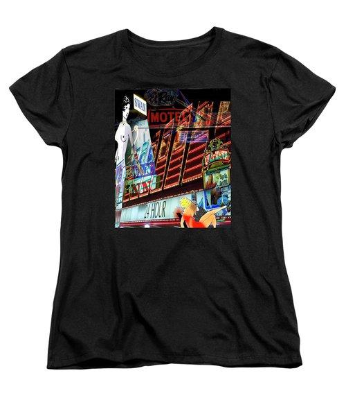 Motel Variations 24 Hours Women's T-Shirt (Standard Cut) by Ann Tracy
