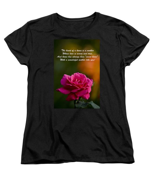 Women's T-Shirt (Standard Cut) featuring the photograph Mother's Day Card 2 by Michael Cummings