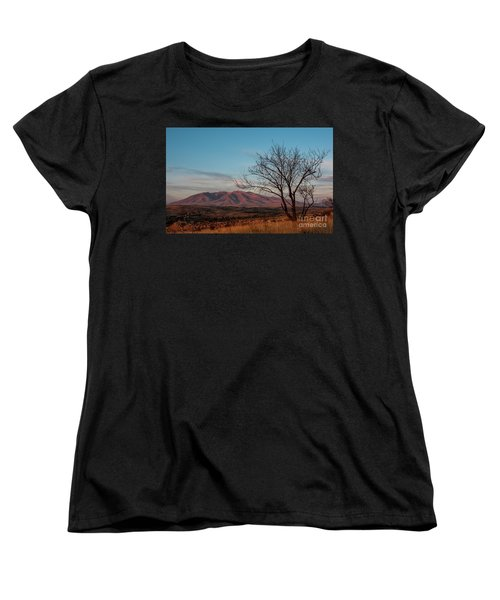 Mount Ara At Sunset With Dead Tree In Front, Armenia Women's T-Shirt (Standard Cut) by Gurgen Bakhshetsyan