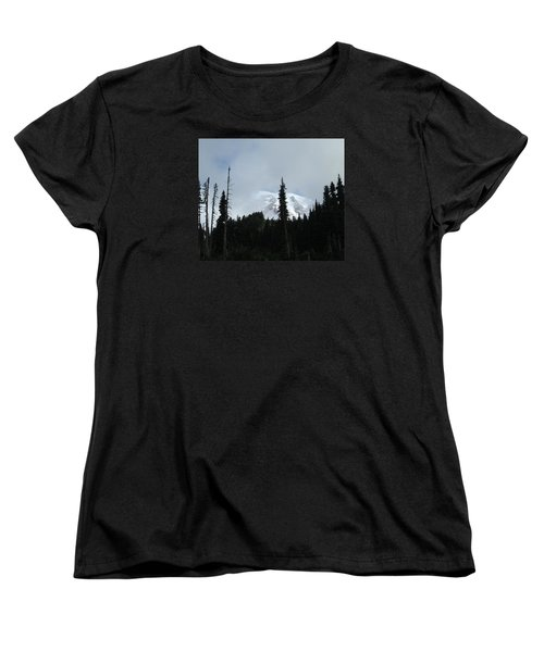 Women's T-Shirt (Standard Cut) featuring the photograph Mount Rainier by Tony Mathews