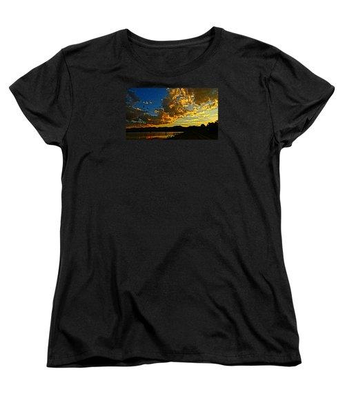 Mountain Colour Women's T-Shirt (Standard Cut) by Eric Dee