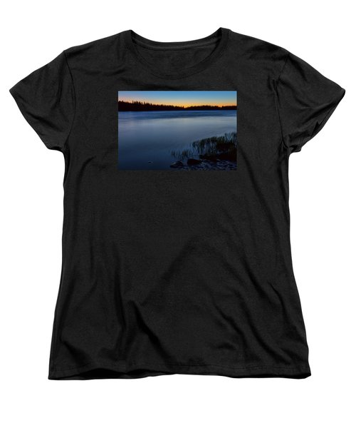 Women's T-Shirt (Standard Cut) featuring the photograph Mountain Lake Glow by James BO Insogna