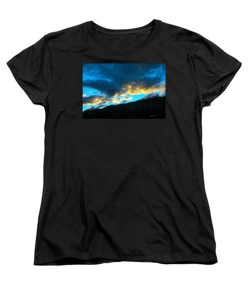 Women's T-Shirt (Standard Cut) featuring the photograph Mountain Silhouette by Madeline Ellis