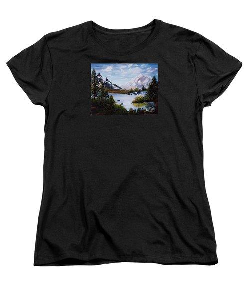 Mountain Splendor Women's T-Shirt (Standard Cut) by Myrna Walsh