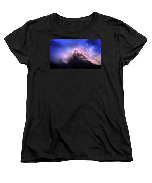 Women's T-Shirt (Standard Cut) featuring the photograph Mountain Twilight by John Poon