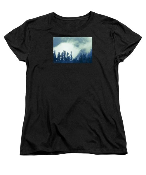 Mountains And Fog Women's T-Shirt (Standard Cut) by Michele Cornelius