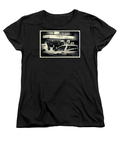 Movie Theatre Paris In New York City Women's T-Shirt (Standard Cut) by Sabine Jacobs