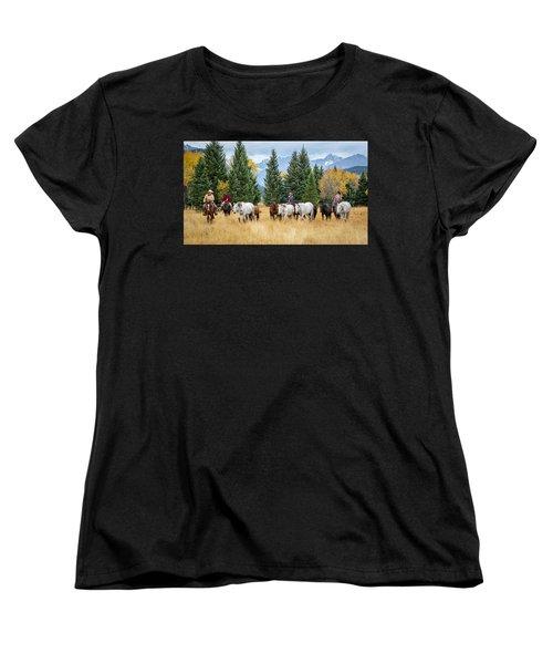 Moving The Herd Women's T-Shirt (Standard Cut) by Jack Bell