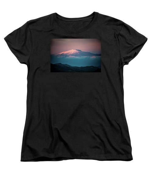 Mt. Etna II Women's T-Shirt (Standard Cut) by Patrick Boening