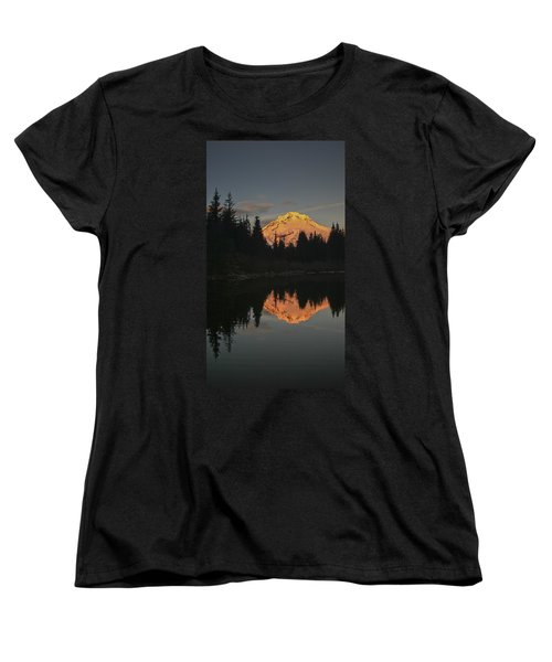 Mt Hood Alpenglow II Women's T-Shirt (Standard Cut) by Albert Seger