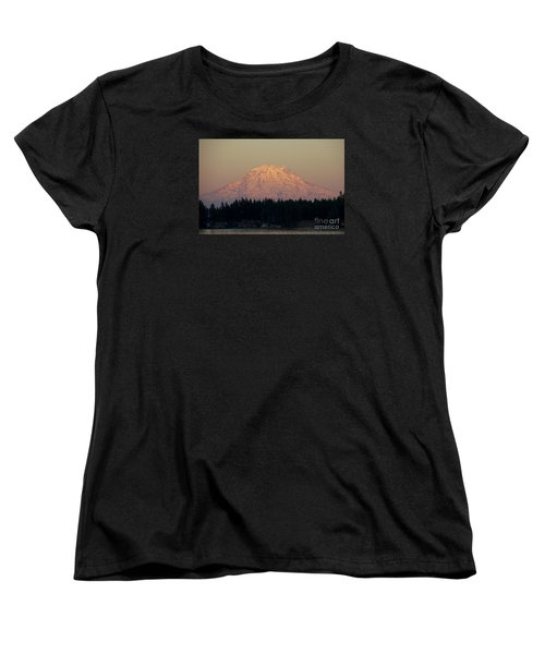 Mt Rainier Alpine Glow II Women's T-Shirt (Standard Cut) by Chuck Flewelling