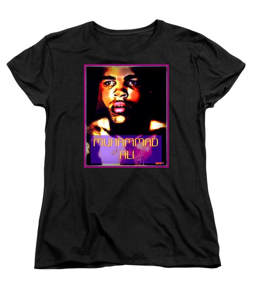 Muhammad Ali V Women's T-Shirt (Standard Cut) by Peter Gumaer Ogden