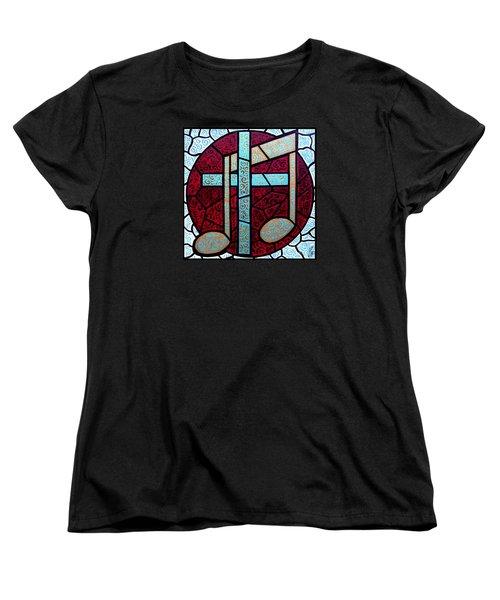 Music Of The Cross Women's T-Shirt (Standard Cut) by Jim Harris
