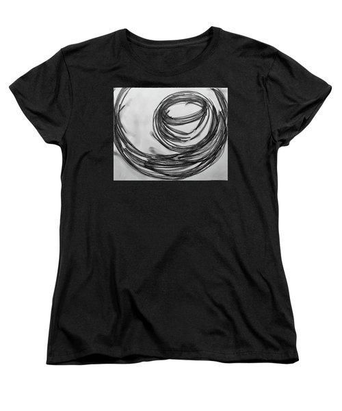 Music Sketch Study Leon Bridges Women's T-Shirt (Standard Cut) by Brenda Pressnall