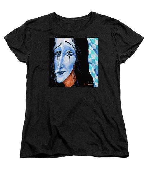Women's T-Shirt (Standard Cut) featuring the painting My Dearest Friend Pierrot by Igor Postash
