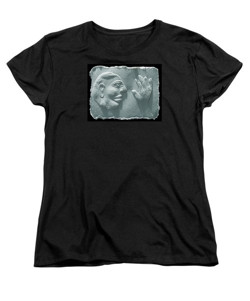 Women's T-Shirt (Standard Cut) featuring the relief My Hand by Suhas Tavkar