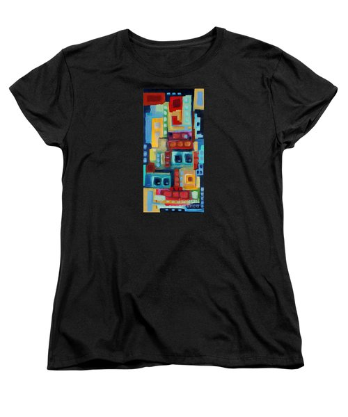 Women's T-Shirt (Standard Cut) featuring the painting My Jazz N Blues 3 by Holly Carmichael