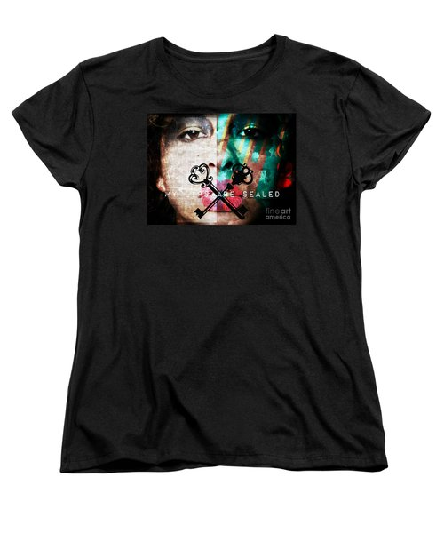 My Lips Are Sealed Women's T-Shirt (Standard Cut) by Jessica Shelton