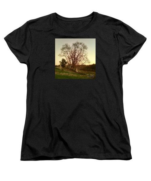My Tree Has A Soul  Women's T-Shirt (Standard Cut) by Delona Seserman