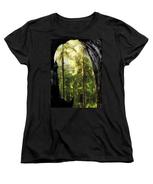 Mystical Forest Opening Women's T-Shirt (Standard Cut) by Leland D Howard