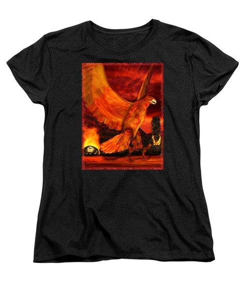 Myth Series 3 Phoenix Fire Women's T-Shirt (Standard Cut) by Sharon and Renee Lozen