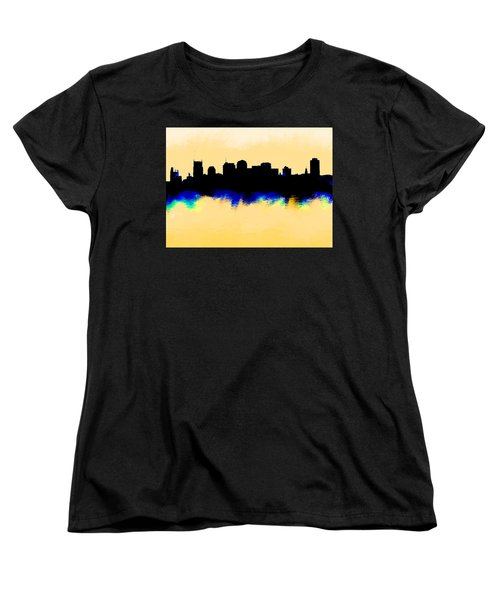 Nashville  Skyline  Women's T-Shirt (Standard Cut) by Enki Art