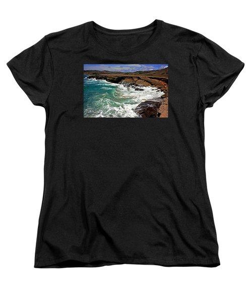 Women's T-Shirt (Standard Cut) featuring the photograph Natural Bridge Aruba by Suzanne Stout