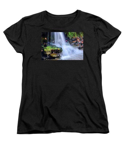 Women's T-Shirt (Standard Cut) featuring the photograph Natural Flowing Water by Frozen in Time Fine Art Photography