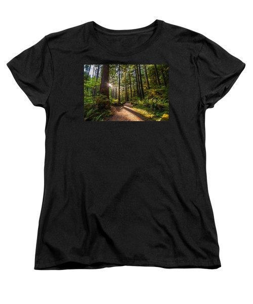 Nature Trail Women's T-Shirt (Standard Cut) by Kristopher Schoenleber