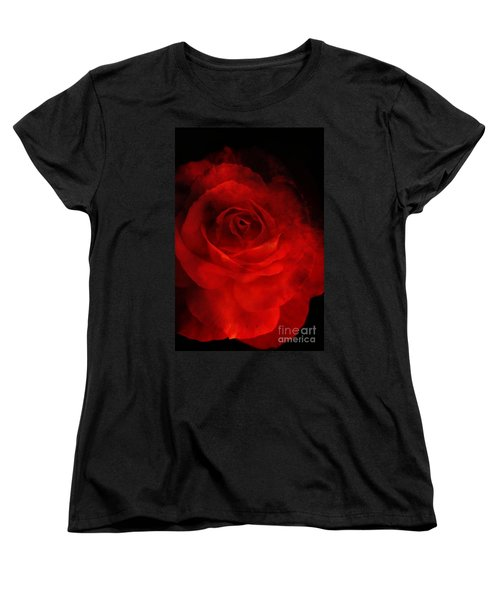 Women's T-Shirt (Standard Cut) featuring the photograph Natures Flame by Stephen Mitchell