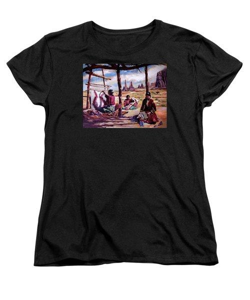 Navajo Weavers Women's T-Shirt (Standard Cut) by Nancy Griswold