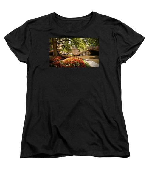 Women's T-Shirt (Standard Cut) featuring the photograph Navarro Street Bridge by Steven Sparks
