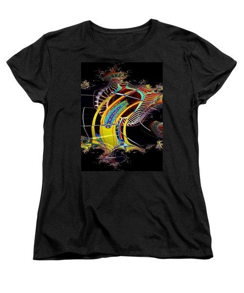 Needle In Fractal 4 Women's T-Shirt (Standard Cut) by Tim Allen