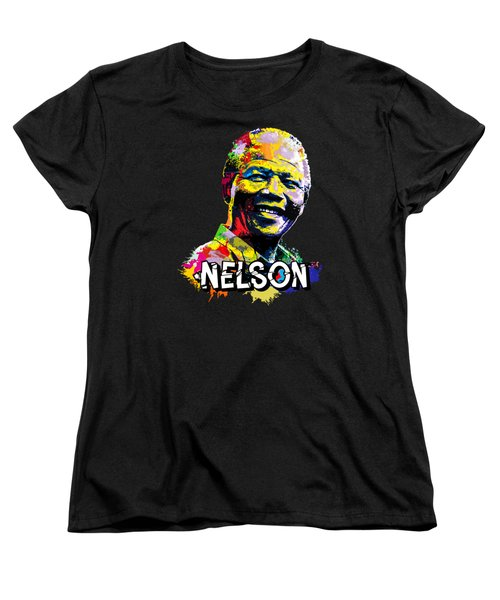 Nelson Mandela Madiba Women's T-Shirt (Standard Cut) by Anthony Mwangi