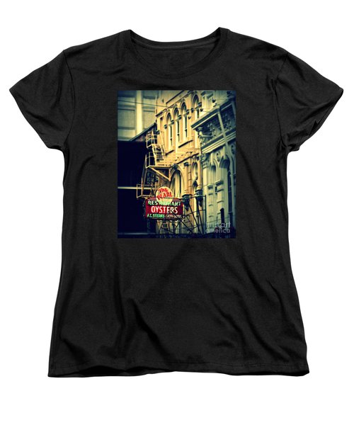 Neon Oysters Sign Women's T-Shirt (Standard Cut) by Perry Webster