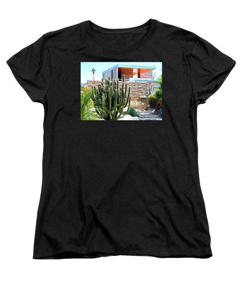 Neutra's Kaufman House 2 Women's T-Shirt (Standard Cut) by Randall Weidner