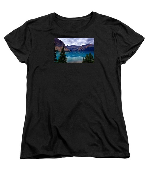 Bow Lake, Banff, Ab  Women's T-Shirt (Standard Cut) by Heather Vopni
