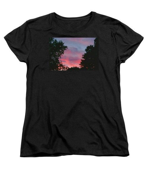 Women's T-Shirt (Standard Cut) featuring the digital art New Hampshire Sunset by Barbara S Nickerson