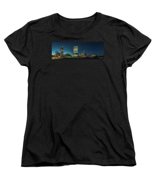 Women's T-Shirt (Standard Cut) featuring the photograph New Milwaukee Skyline by Randy Scherkenbach